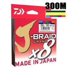 أفضل سعر 300 متر دايوا J BRAID جراند مضفر خط البولي ايثيلين سوبر قوية اليابان حيدة مضفر خيط صنارة الصيد بالجملة