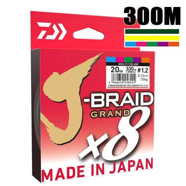 Il Best Prezzo 300M DAIWA J BRAID GRAN Intrecciato PE Linea Super Forte Giappone Monofilamento Intrecciato la Linea di Pesca Allingrosso