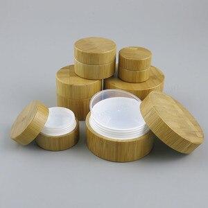 Image 1 - Копилка для косметики из натурального бамбука, 12 шт., 10 г, 30 г, 50 г