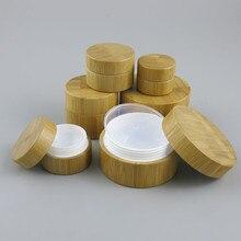 12x5G 10G 30G 50G Natuurlijke Bamboe Houten Gezichtscrème Jar DIY Bamboe Cosmetische Masker opbergdoos Hoge end Lege oogcrème Pot