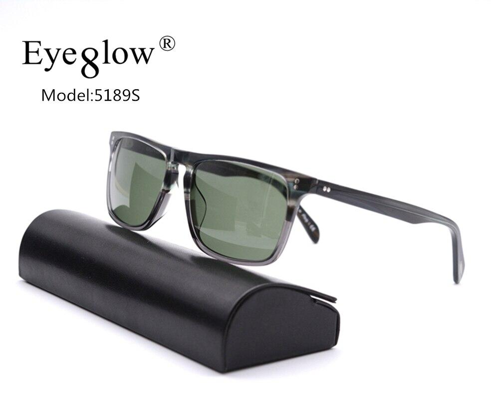 EyeGlow 5189S Iron Man Robert Downey Retro style Square Sunglasses Men and Women Glass Lens Outdoor Fashion Vintage Sun glasses