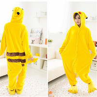 Pikachu Cosplay FlannelWomen and Men Pyjamas Onesies animals set Pajama Pajamas Christmas panda Pijama flannel pajamas