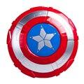 27 cm Capitán América Shield juguetes con luz y sonido para el cabrito 2016 nuevo Capitán América 3 artículos para fiestas de Regalo Cosplay armas de Guerra Civil