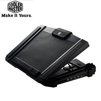 "Cooler Master SF-17 Laptop Cooler Pad for 10-17"" Notebook 18cm fan 4 USB Port slide-proof stand Cooling Fan with LED light"