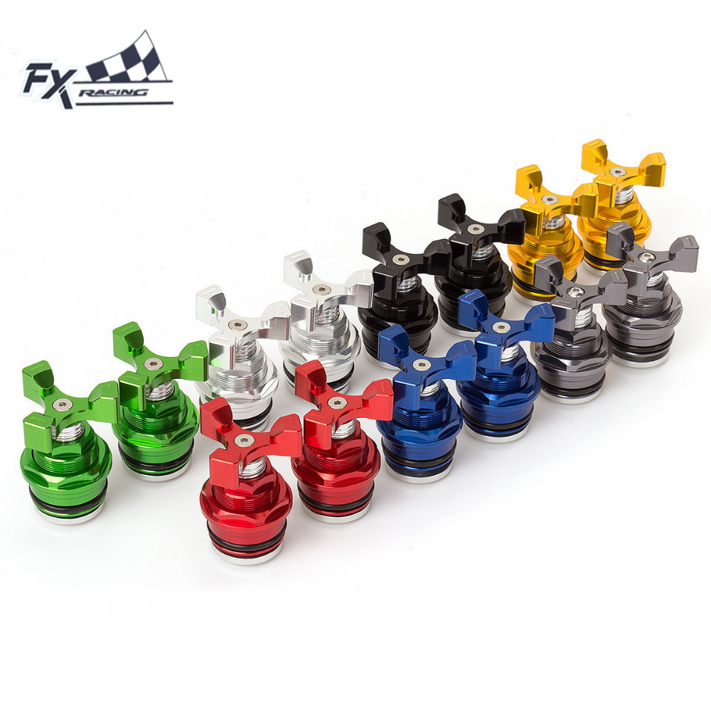 FX CNC Motorcycle Preload Adjusters Fork Bolts For Kawasaki Ninja 250 Ninja250R 2008 - 2012 2009 2010 2011 2012 Moto Accessories motorcycle radiator grille grill guard cover protector golden for kawasaki zx6r 2009 2010 2011 2012 2013 2014 2015