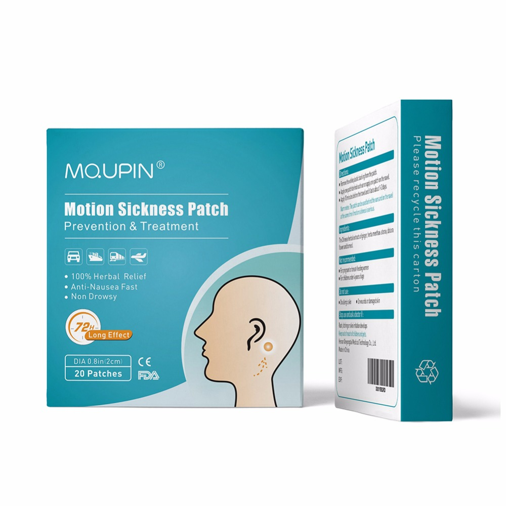 Motion Sickness Patch 100% Herbal Anti-Nausea Fast Non drowsy Relieving Vomiting Nausea Dizziness Anorexia Patch Health Care