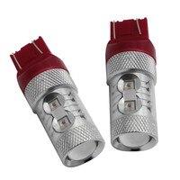 2 Pcs 50 W Canbus CREE Chip Lâmpadas LED Duplo Filamento 7443 T20 W21/5 W W3X16Q Truck Car Parar Luz de Freio Do Carro Lâmpada 12 V 24 V Red 700lms