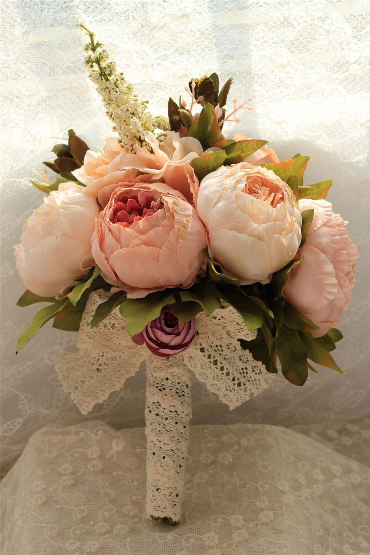 Artificial flower Wedding Bouquet Bouquet Bridal Bouquet Bridesmaid Wedding Decoration Event Party Supplies buques de noivas (9)