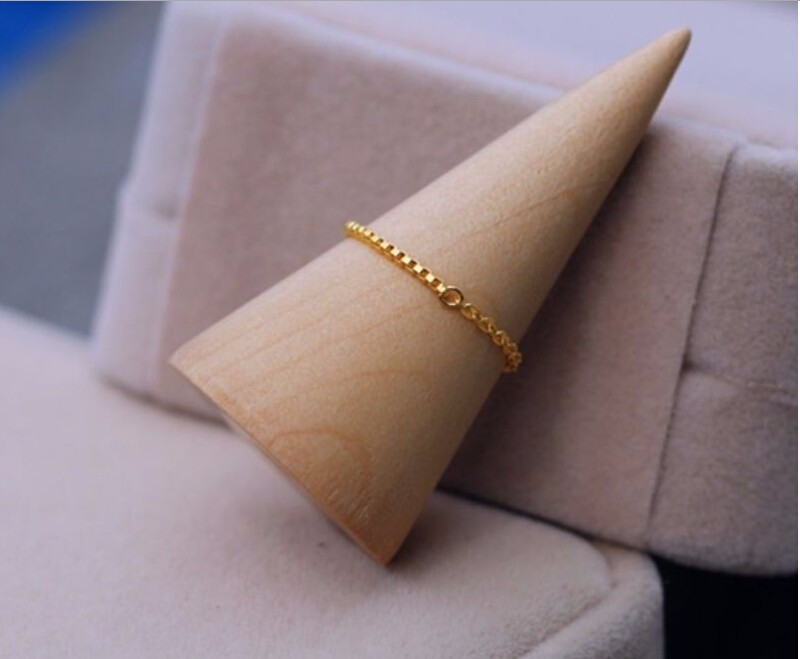 999 Solid 24K Yellow Gold Ring /Lucky Men Women Box Ring