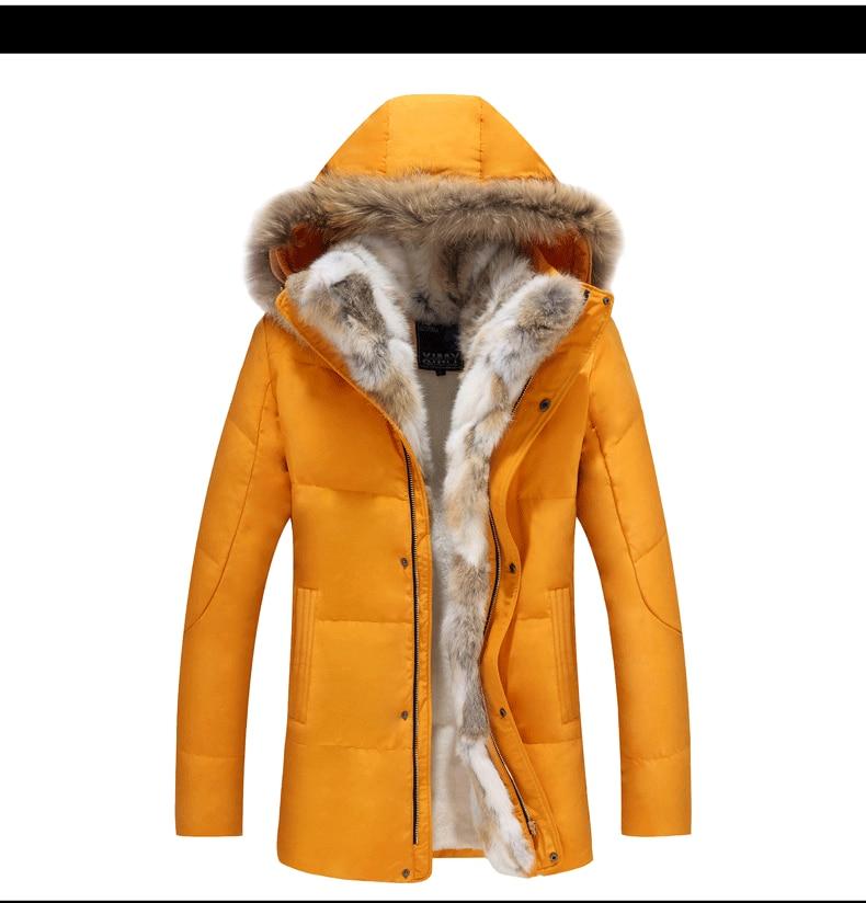 Rom Warme Kapuze Daunenjacke Männlich Mode 5xl Kleidung Mit Winter Freizeit Baumwolle Qualität Lange Mantel S Link Fit Hochwertige Slim nOPk8w0
