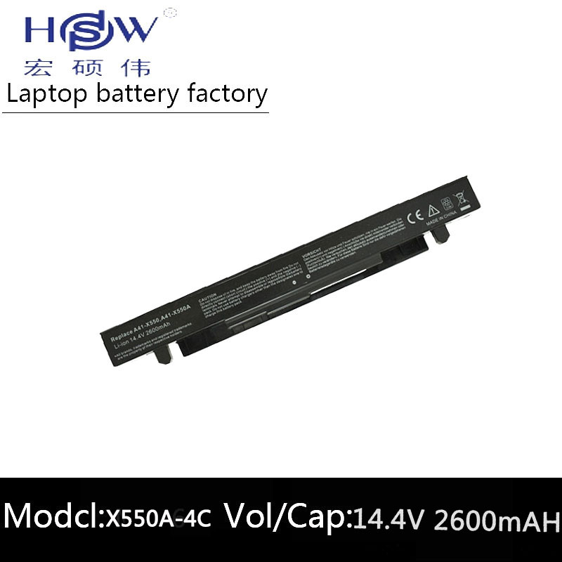 HSW 4Cells Battery For Asus R409V R510C R510D R510E R510L R510V X450C X450C X450L X450V X452C X452E X550C X550CA X550CA bateria in Laptop Batteries from Computer Office