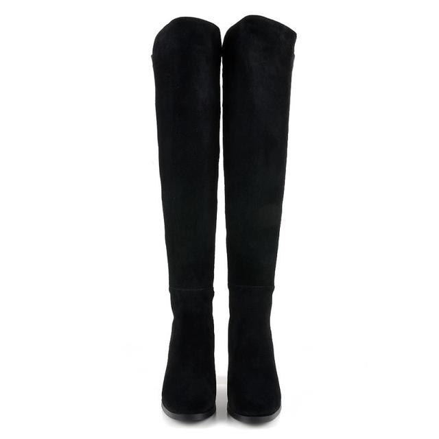 MORAZORA Top sale square heels women genuine leather over the knee boots queen van elegant mixed colors autumn boots