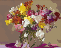 Colorful Tulips Flowers Canvas Paintings By Hand No Frame Home Decoration Oil Painting Pictures By Numbers