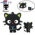 New design black cat usb flash drive pen drive real capacidade de memória U vara Disco 32 GB 16 GB 8 GB 4 GB Colhedor chococat