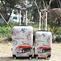 XQ15 Equipaje Ruedas Universales Trolley Equipaje de Viaje Maleta de La Vendimia (20 pulgadas + 24 cias) 2 UNIDS Conjunto Maleta