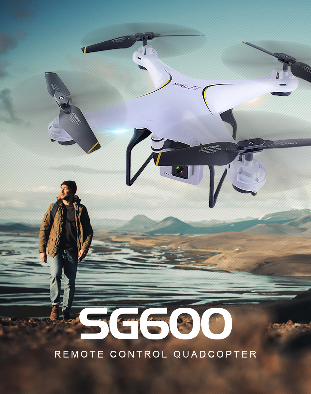 Teeggi SG600 FPV RC Drone With 2MP 7P WiFi HD Camera Quadcopter Altitude Hold A Key Return Helicopter VS X5SW X5HW Dron 1