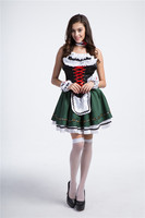 דשא ירוק פסטיבל הבירה באירופה ובאמריקה בגדים שמלת עוזרת קוספליי חדרניות תלבושות אחידים מסעדה