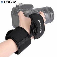 PULUZ Soft Neoprene Hand Grip Wrist Strap With 1/4 Inch Screw Plastic Plate Professional Camera Accessory For SLR/DSLR Cameras