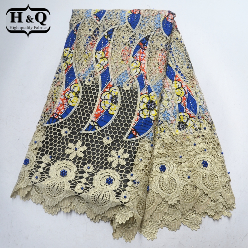 Beautiful High quality Water soluble lace Guipure lace african wax African lace fabric with Stones and Beads for Wedding PartyBeautiful High quality Water soluble lace Guipure lace african wax African lace fabric with Stones and Beads for Wedding Party