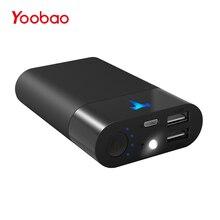 Yoobao T1 10200 mAh Mini Banque D'alimentation Portable Téléphone Chargeur Pour téléphones Dual USB Batterie Externe Avec Éclairage LED Facile à transporter