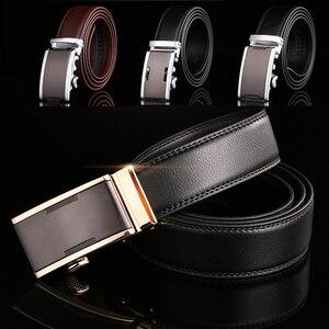Leather Belt Men Designer Belts Men High Quality Cinturones Hombre Ceinture Homme Luxe Marque Cinto Cintos Para Homens Automatic