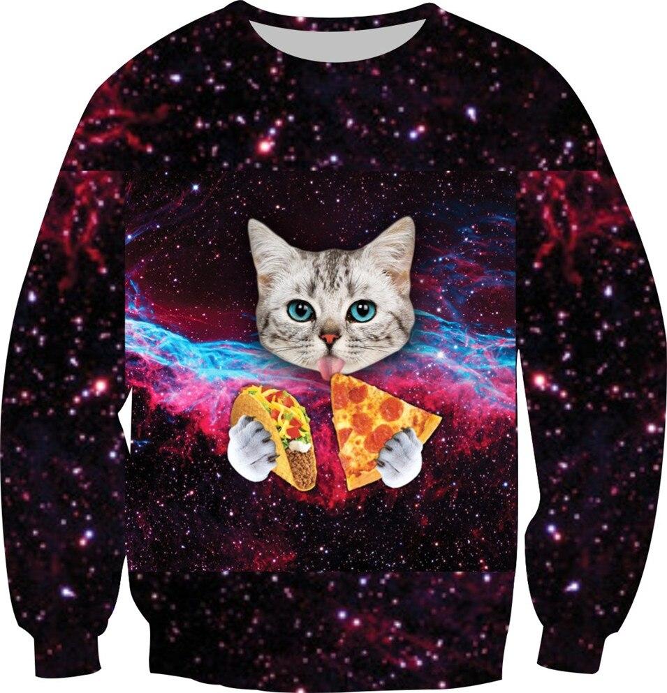 New 3D Galaxy Sweatshirt Women Men Fashion Hoodies Animal Panda Fish Skull Tupac Brand Design Crewneck Tops Warm Fleece Clothes