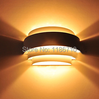 led wall light, 1 Light,Modern Metal Anodized Polishing wall light Free shippingled wall light, 1 Light,Modern Metal Anodized Polishing wall light Free shipping