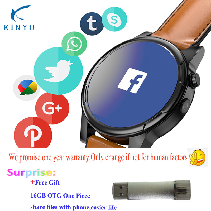 Smartwatch 3GB 32GB larger memory GPS WIFI Smart watch 4G MTK6739 Android watch camera sports watch