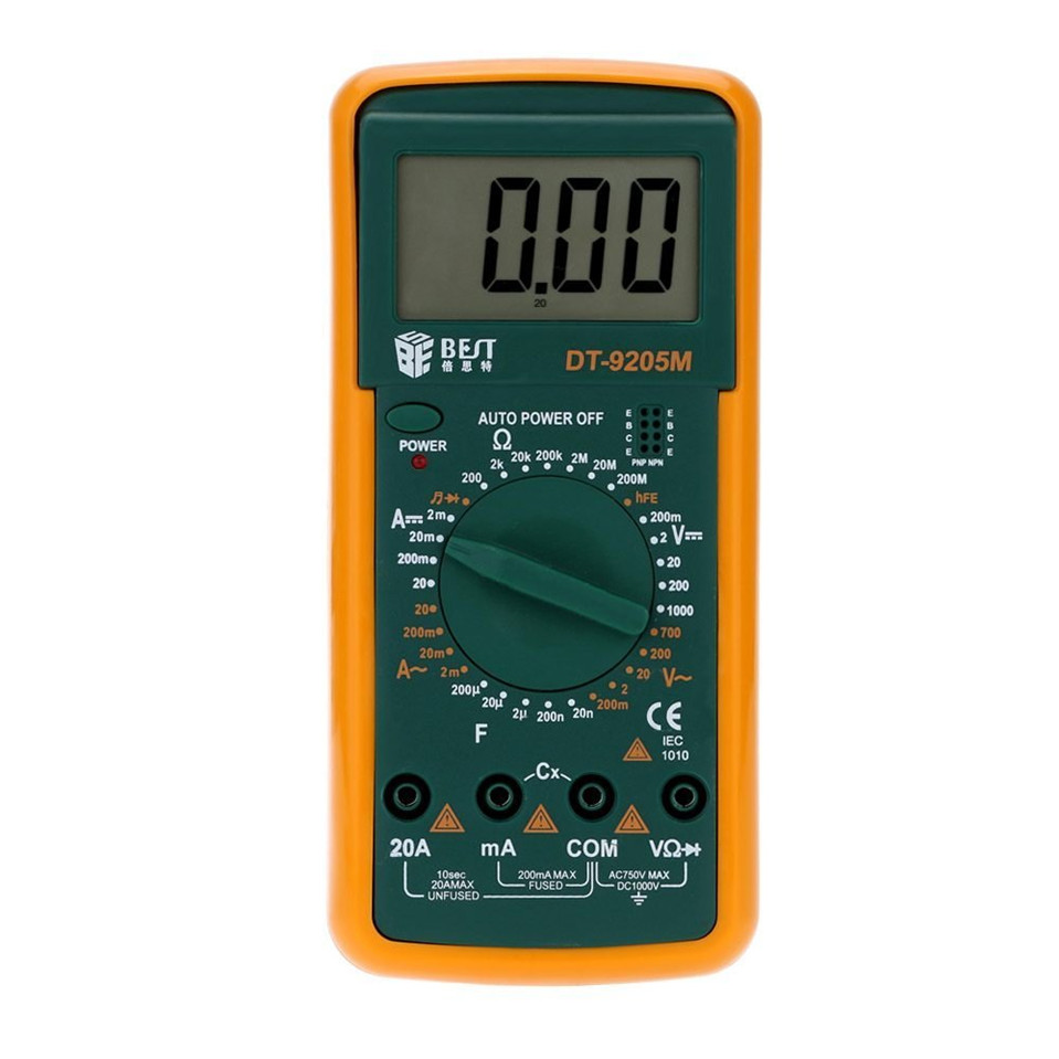 Marca BEST-9205M medidor Digital dígito medidor multitester medidor dijital multimetre Digital multimetros multimetr
