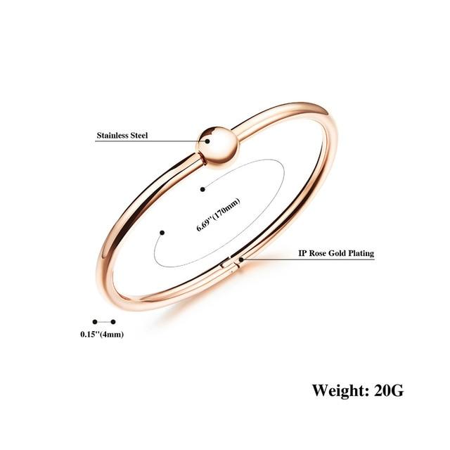 Woman Elegant Fashion Bracelet - Simple Design Ball Shape Open Bangle 1