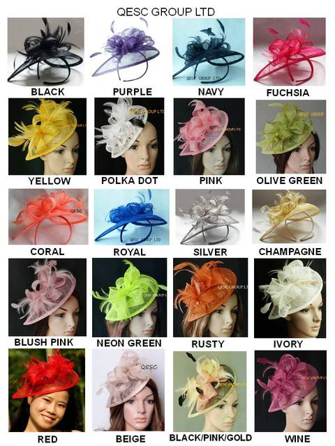 28 colors.EMS FREE SHIPPING.HOT sinamay  fascinator in SPECIAL shape w/feathers for Kentucky derby wedding TOP grade workmanship