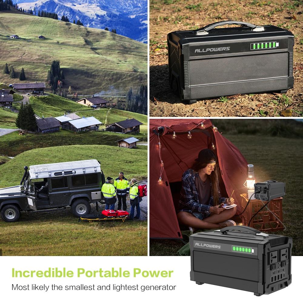 Image 5 - ALLPOWERS 220V Power Bank 78000mAh Generator przenośny Power Station AC/DC/USB/type c wielokrotnego wyjścia UPS Power Battery.Powerbank   -
