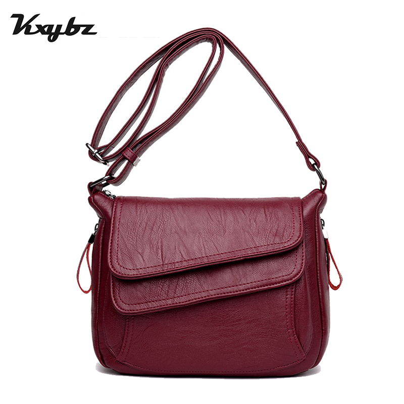 KXYBZ Luxury Designer Soft Leather Females Shoulder Bag High Quality Small Women Crossbody Bag Casual Messenger Bag K3015 2018 brand designer women messenger bags crossbody soft leather shoulder bag high quality fashion women bag luxury handbag l8 53