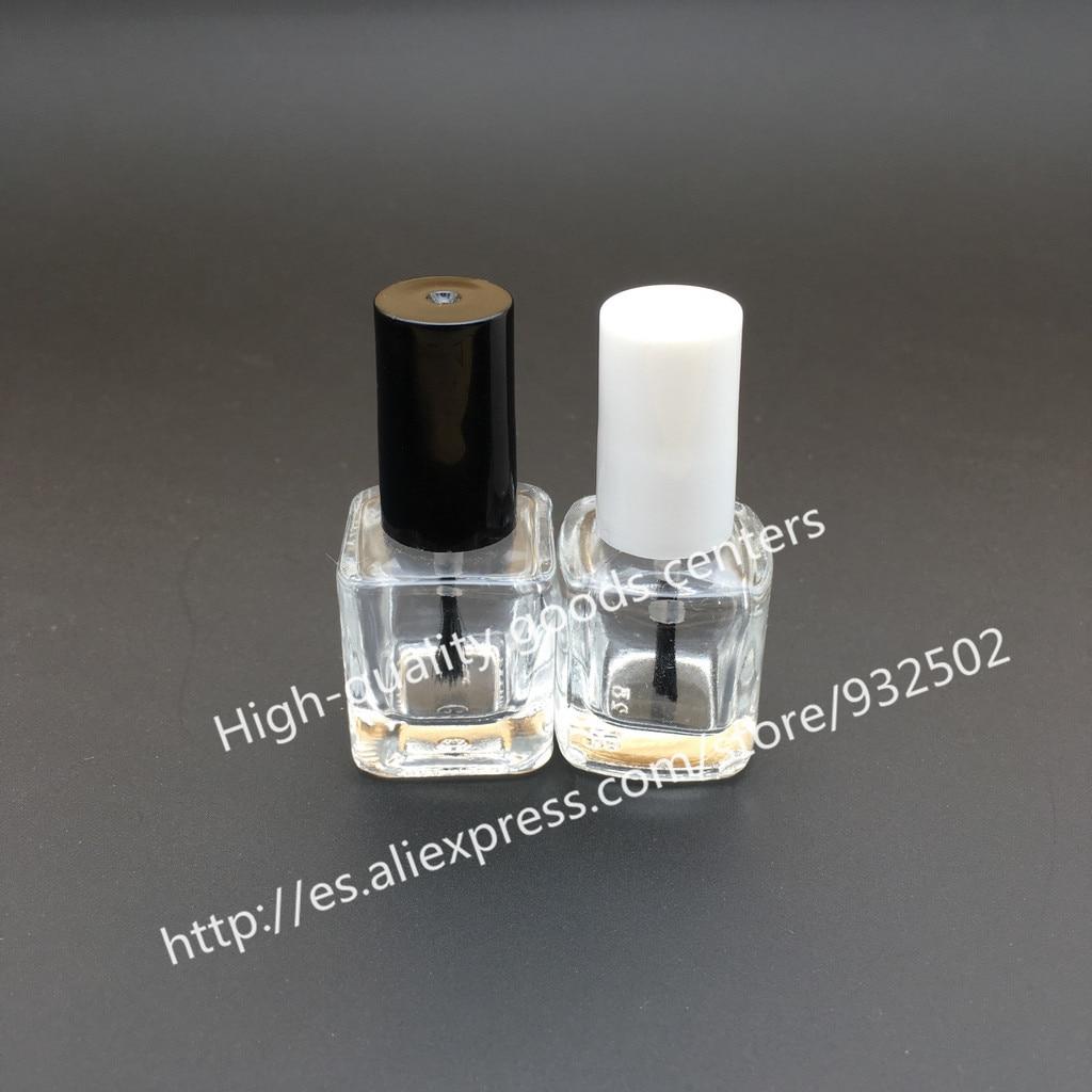 Free Shipping 10pcs 15ml round nail polish bottle bottles with white black lid,Small Glass Nail Polish Bottle,Mini Glass Bottle