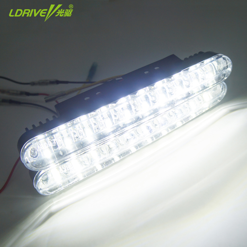 LDRIVE 2PCS 30 LEDs Car Daytime Running Light DRL Daylight Lamp With Yellow Turn Lights Daytime Running Lights Lamps LED Light