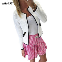 Women Coats Echo657 Hot Sale Fashion Women Long Sleeve Lattice Tartan Cardigan Top Coat Jacket Outwear
