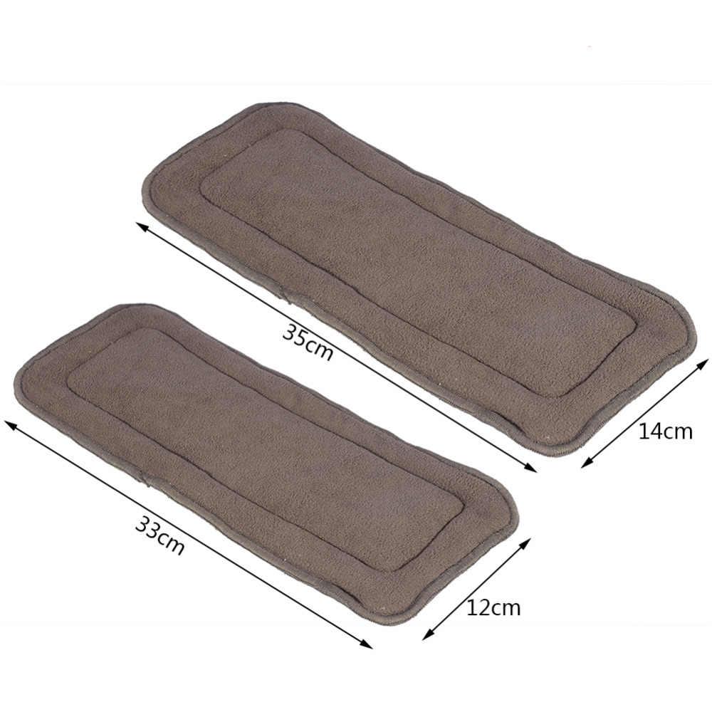 2 tamaños reutilizables revestimiento de pañal insertar paño de carbón de bambú lavable pañal adulto insertar 5 capas pañal súper adulto