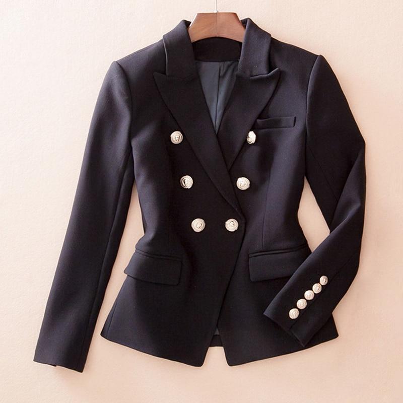 Blazers ladies Women 2019 Spring Autumn Women Suit Jacket Blazer Femme Double breasted office lady Blazer in Blazers from Women 39 s Clothing
