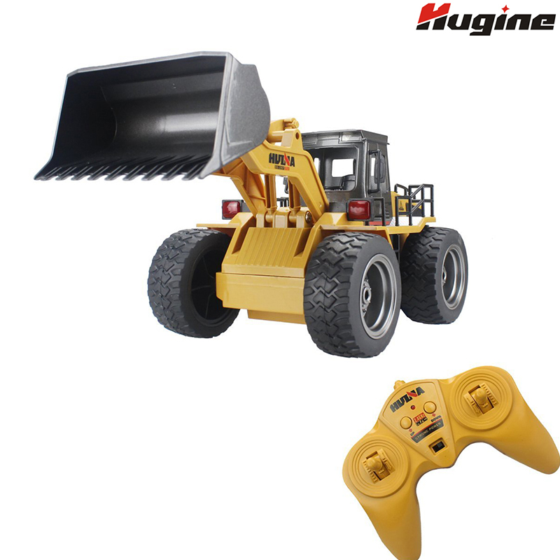 RC Truck Alloy Shovel Loader 6CH 4WD Wheel Loader Metal Remote Control Bulldozer Construction Vehicles For