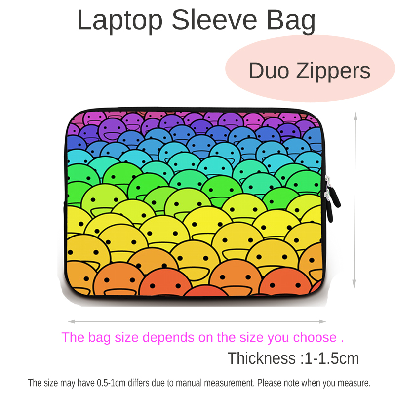 Image 2 - Viviration Zippers Soft Laptop Cover Case For 7/10/12/13/14/15/17 inch Notebook Computer Accessories For Acer Sony Dell HP PC-in Laptop Bags & Cases from Computer & Office
