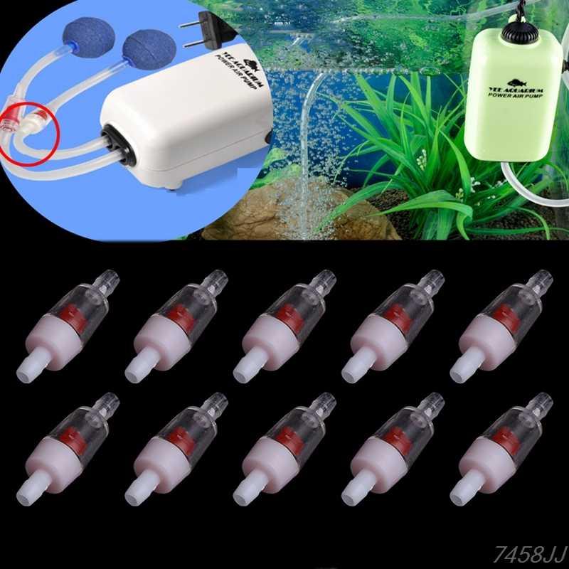 1 stücke Aquarium luftpumpe Kunststoff 4 cm Eine Möglichkeit Überprüfen Ventil Nicht-Rückkehr Für Aquarium Aquarium CO2 wasser Luft Linie Pumpe Z03