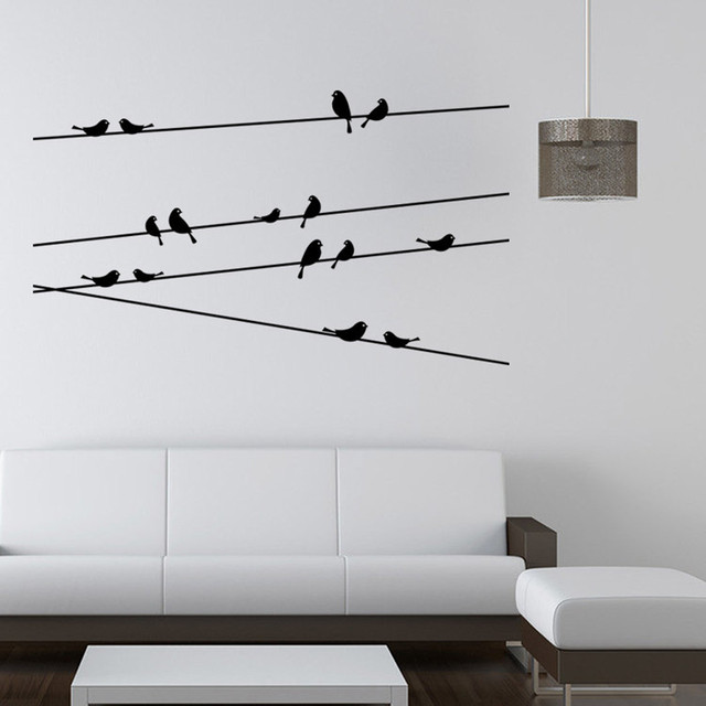 Branch Black Bird Wall Sticker