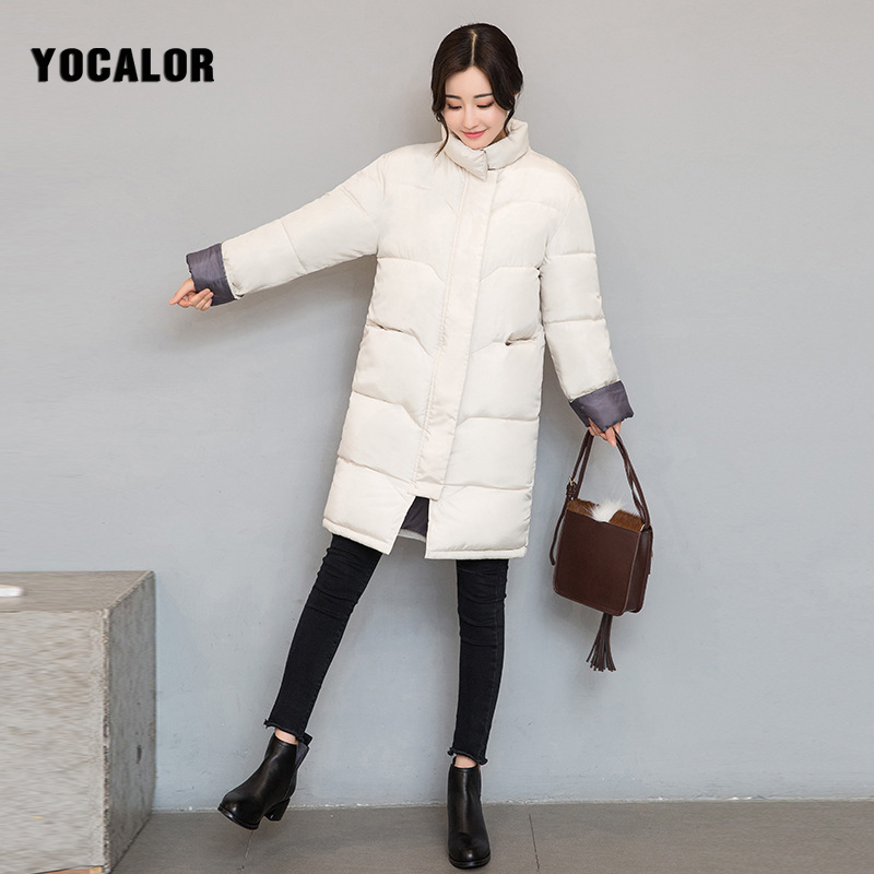2017 2XL Fashion Down Cotton Padded Parka Warm Quilted Jacket Plus Size Women Winter Female Coat Long Basic Outerwear Snow Wear pregnant women of han edition easy to film a word long woman with thick cotton padded clothes coat quilted jacket down jacket