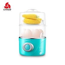 Chigo многомерный пароварке Электрический яйцеваркой Техника для кухни Электрический паровой яйцо плита zdq-201