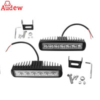 2pcs 18w DRL LED Automobile Day Light Spotlight 6000K For Car Motorcycle Off Road Work Light