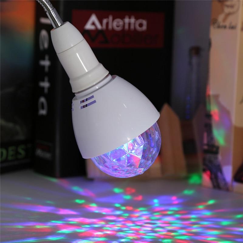 ZjRight E27 LED luz cambiable colorido 3W RGB cristal giratorio - Iluminación comercial - foto 5