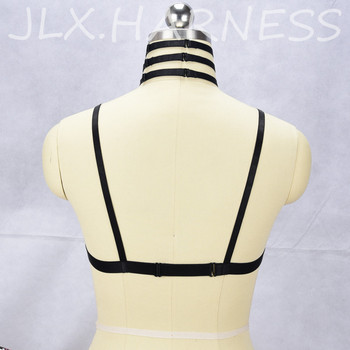 JLX.HARNESS New Arrival Lace Cage Bra Harness Sexy Underwear See Through Lingerie Lace Cup Bralette Fetish Bondage Harness O0430 6
