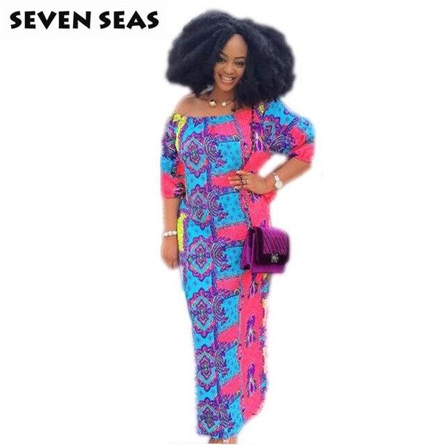 New African Clothing Dashiki African Dresses for Women Boho Long Maxi Dress 6b4326edac99