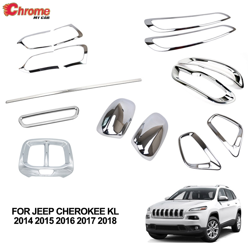 For Jeep Cherokee KL 2014 2015 2016 2017 2018 Rear Trunk Chrome Cover Trim Molding Accessories Car Styling Decoration Sticker-in Chromium Styling from Automobiles & Motorcycles