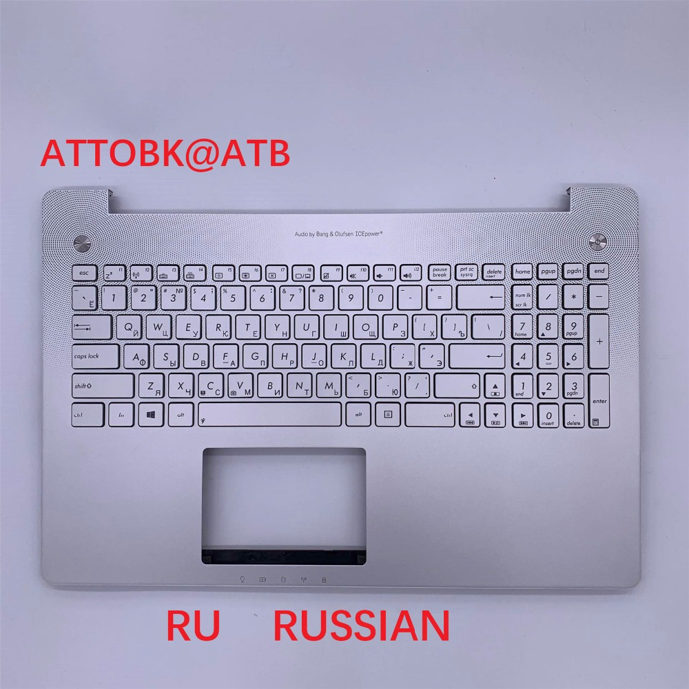New RU standard Laptop palmrest Keyboard for ASUS R552JV R552J N550JV N550JK N550LF Q550 Q550LF G550J G550JK with backlight -in Replacement Keyboards from Computer & Office    1